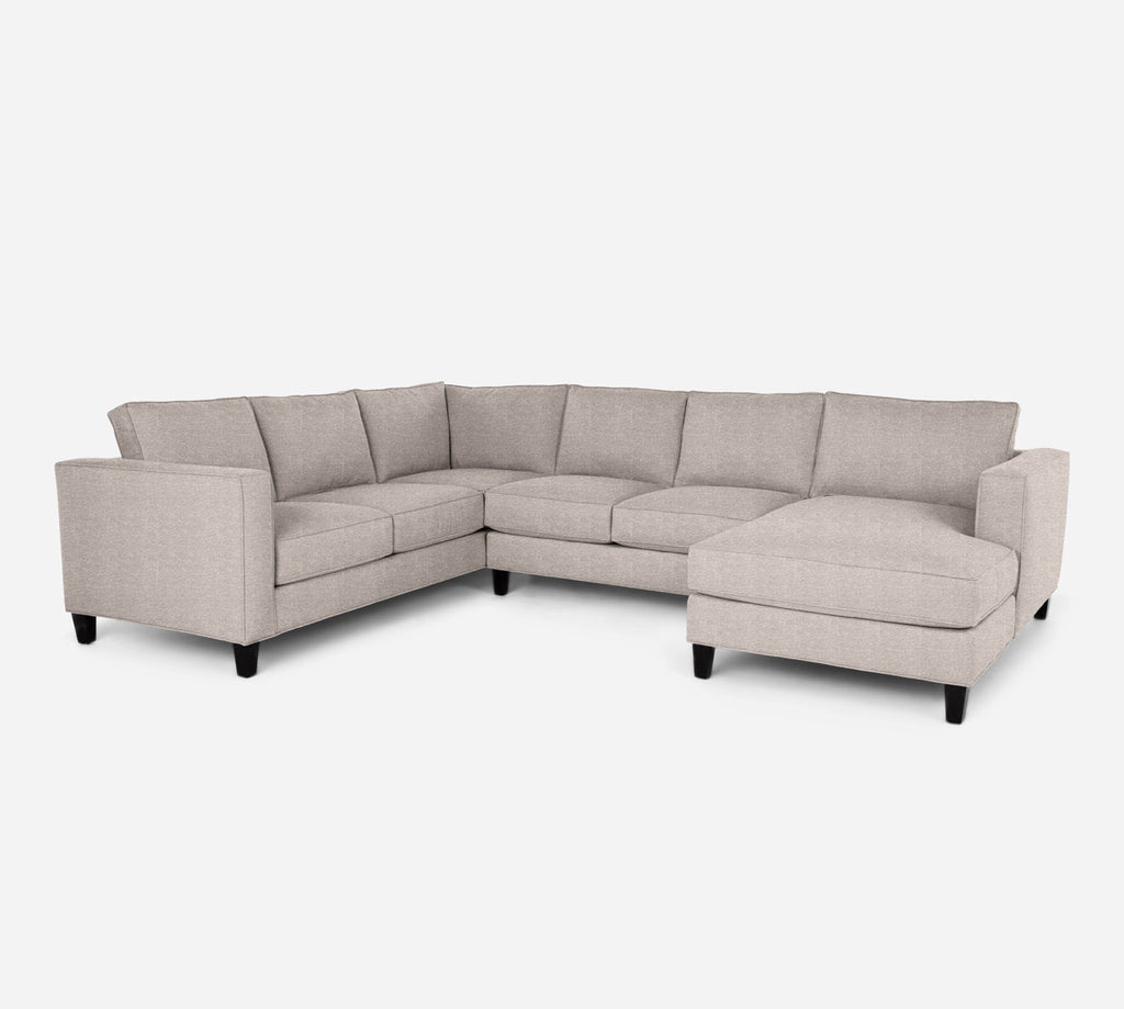 Remy RAF Chaise Corner Sectional - Stardust - Oatmeal