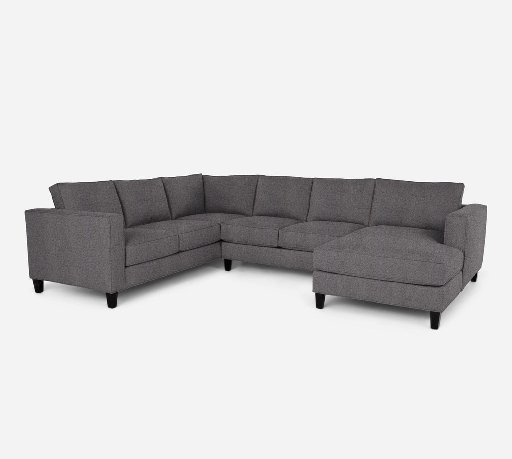 Remy RAF Chaise Corner Sectional - Theron - Concrete