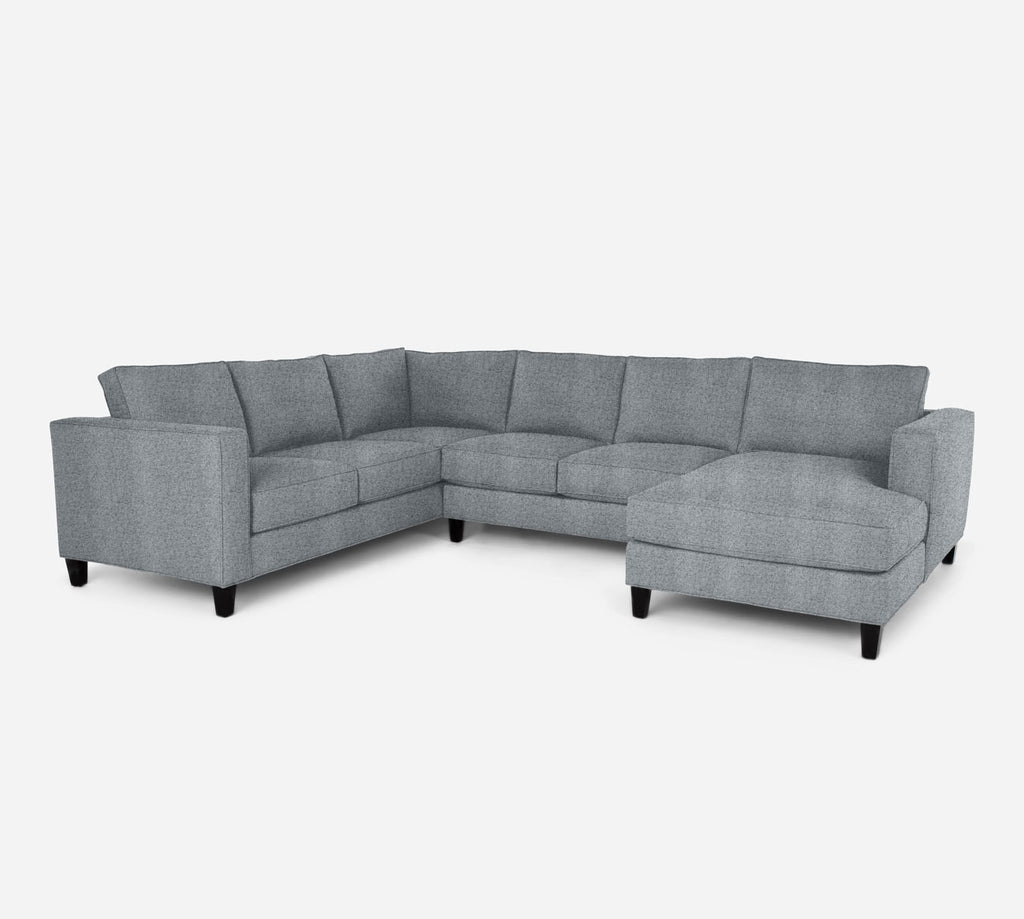 Remy RAF Chaise Corner Sectional - Theron - Haze