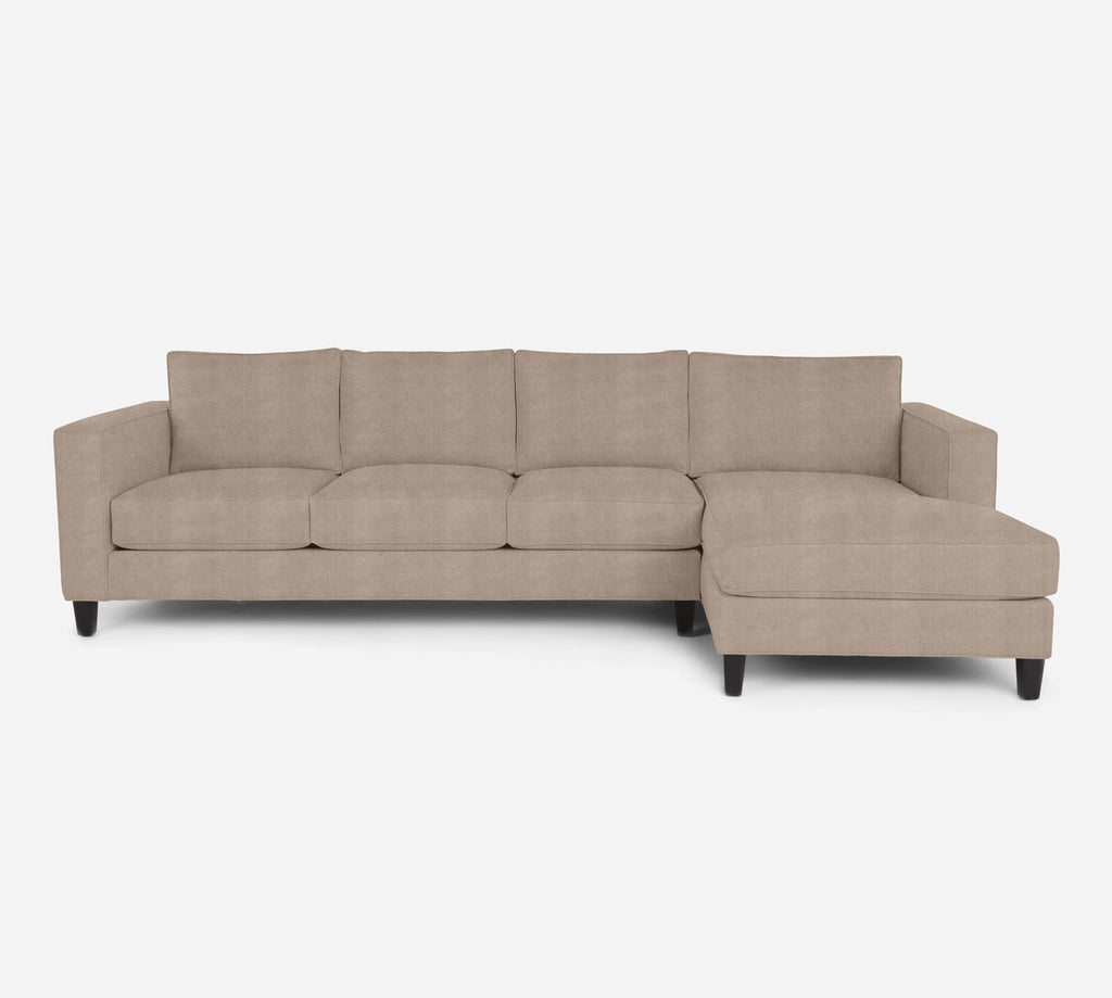Remy RAF Chaise Sectional - Passion Suede - Camel