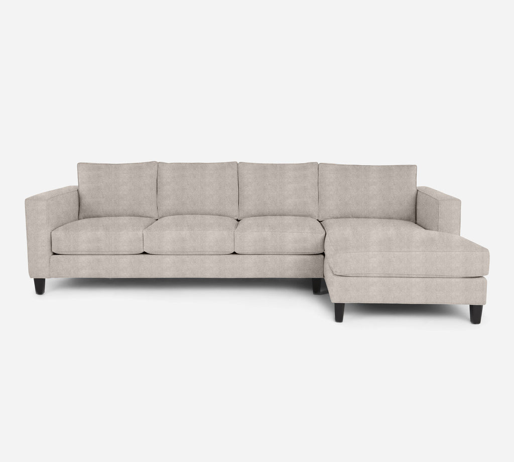 Remy RAF Chaise Sectional - Passion Suede - Oyster