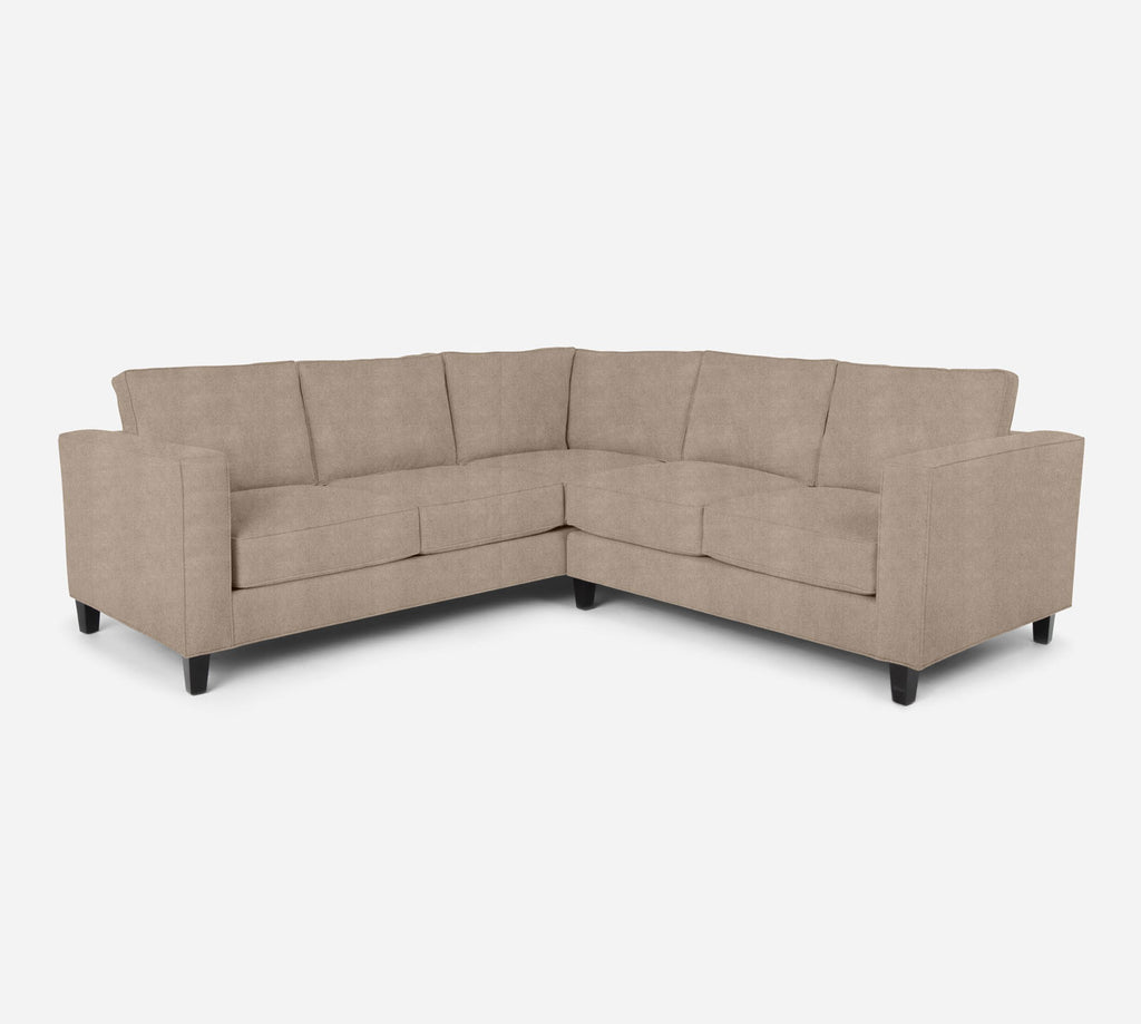 Remy RAF Corner Sectional - Passion Suede - Camel
