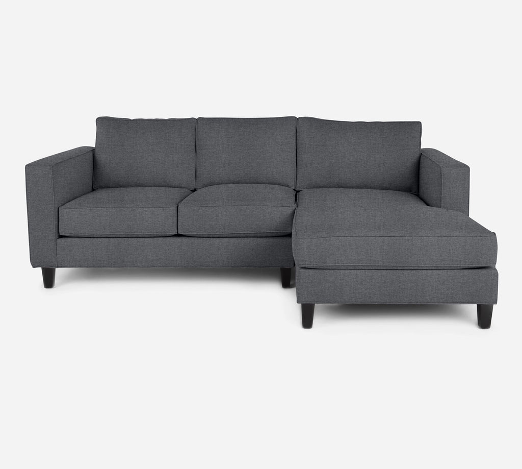 Remy Sectional Apartment Sofa w/ RAF Chaise - Coastal - Steel