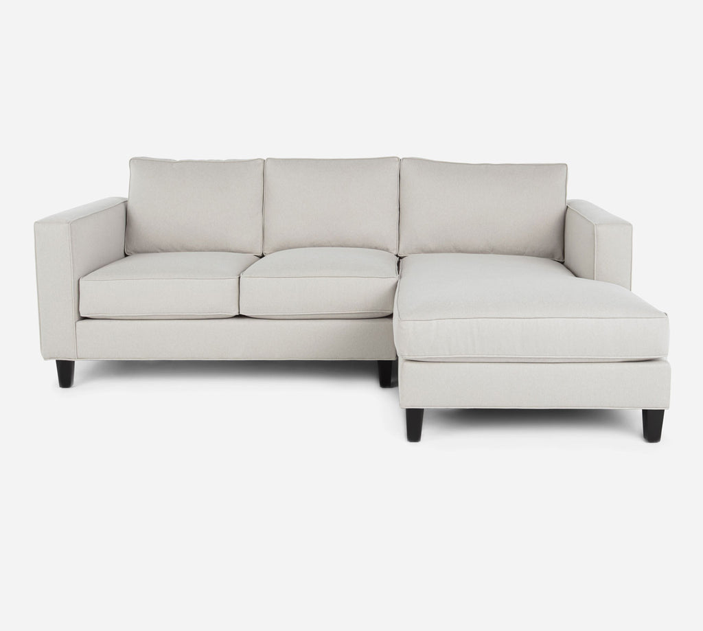 Remy Sectional Apartment Sofa w/ RAF Chaise - Dawson - Oatmeal