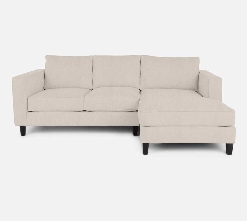 Remy Sectional Apartment Sofa w/ RAF Chaise - Kenley - Canvas