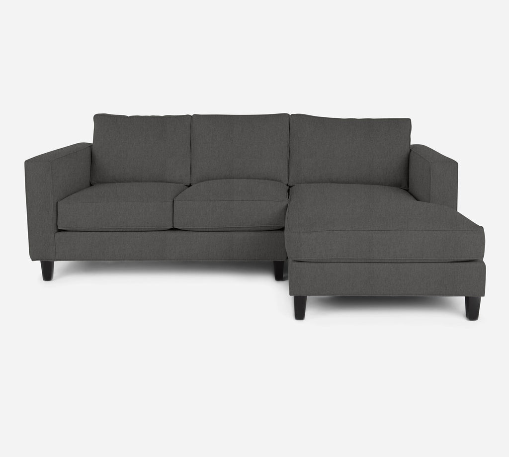 Remy Sectional Apartment Sofa w/ RAF Chaise - Kenley - Silversage