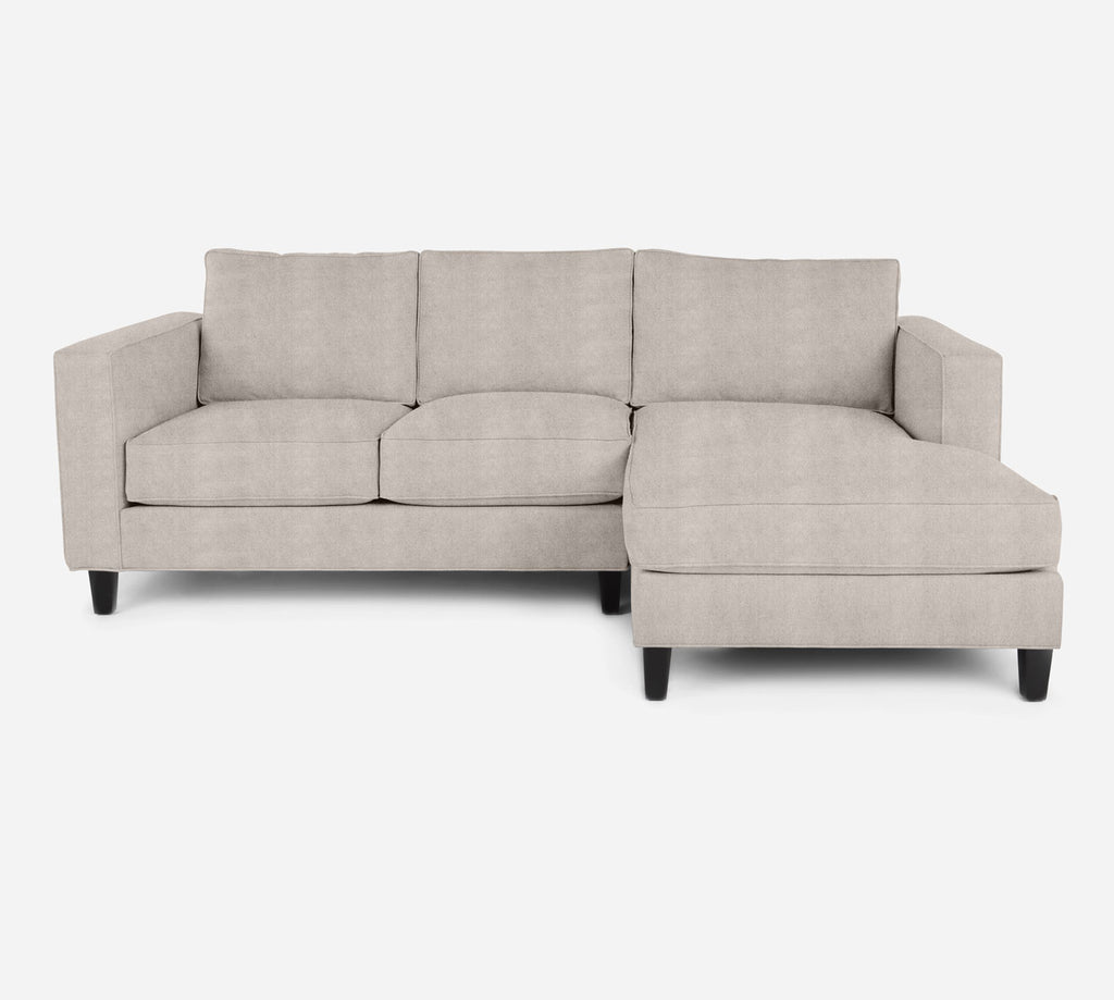 Remy Sectional Apartment Sofa w/ RAF Chaise - Passion Suede - Oyster