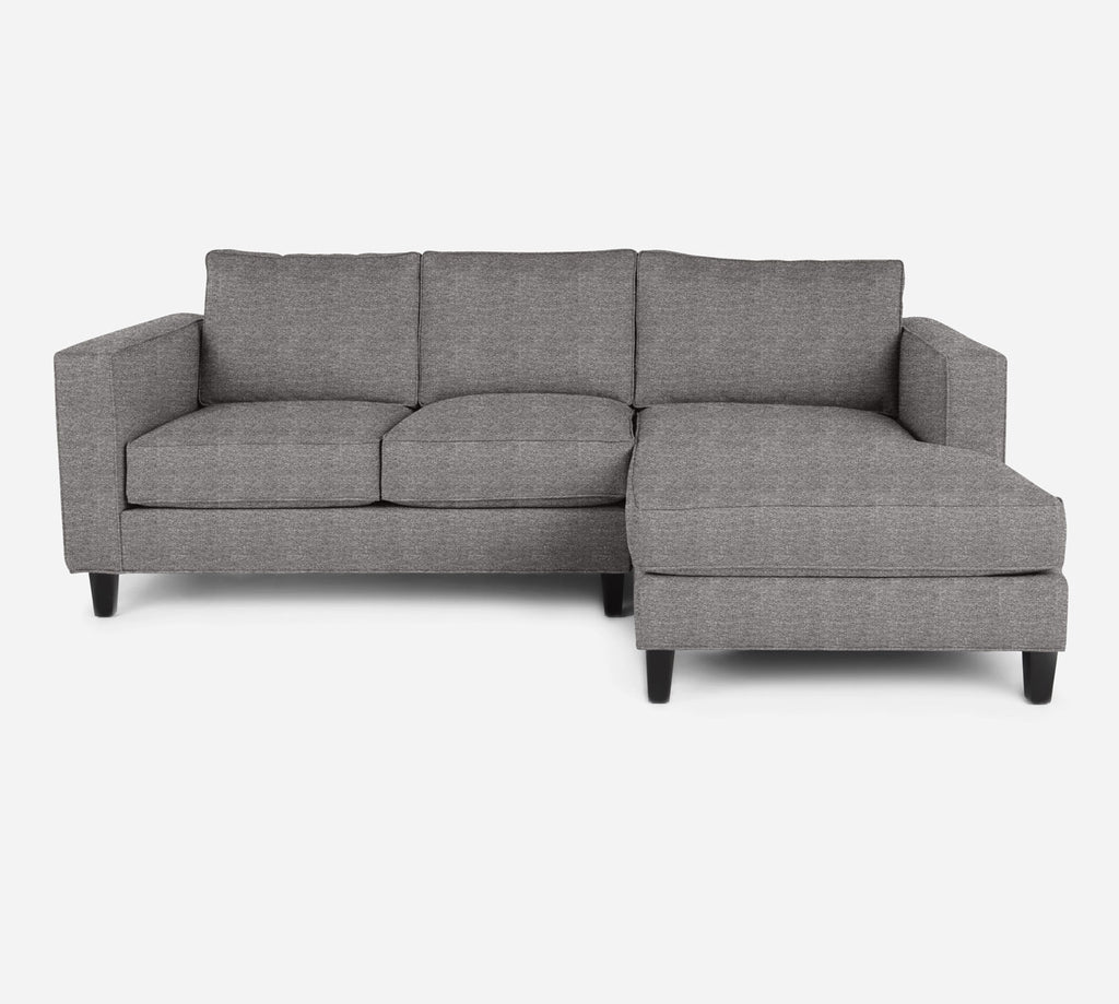 Remy Sectional Apartment Sofa w/ RAF Chaise - Stardust - Fossil