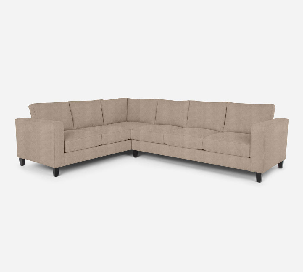 Remy RAF Large Corner Sectional - Passion Suede - Camel
