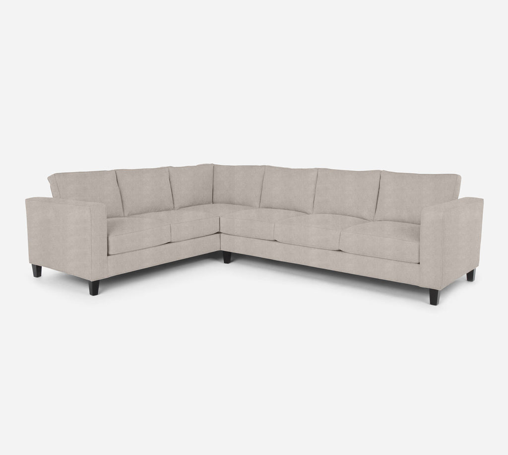 Remy RAF Large Corner Sectional - Passion Suede - Oyster