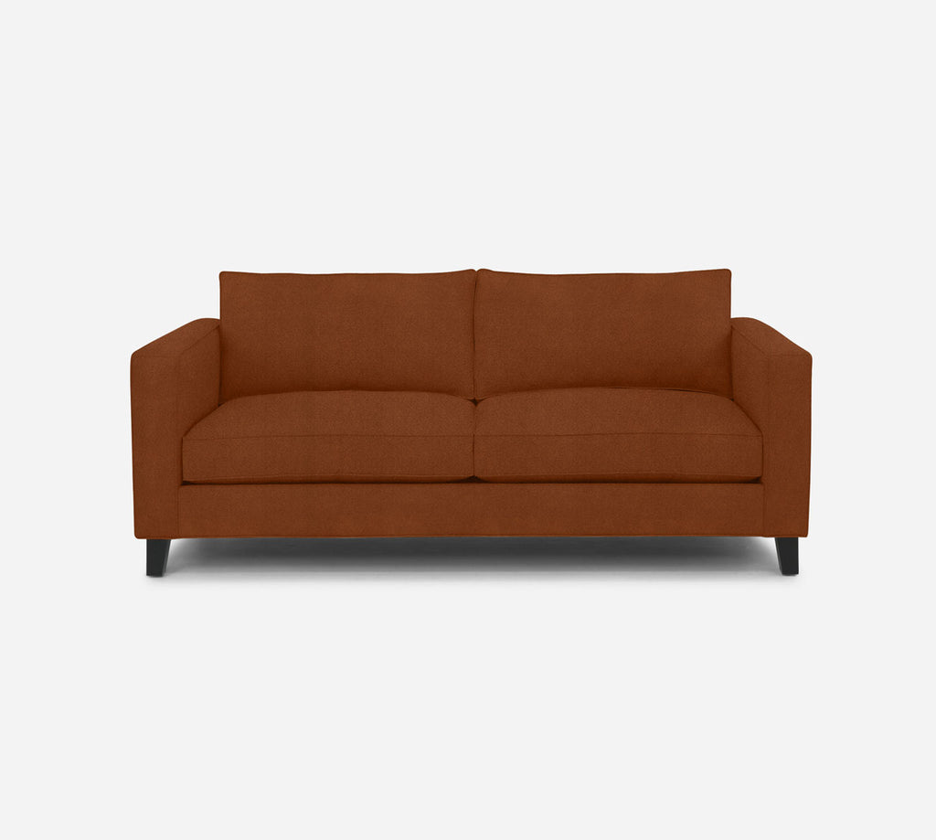 Remy 2 Seat Sofa - Passion Suede - Rust