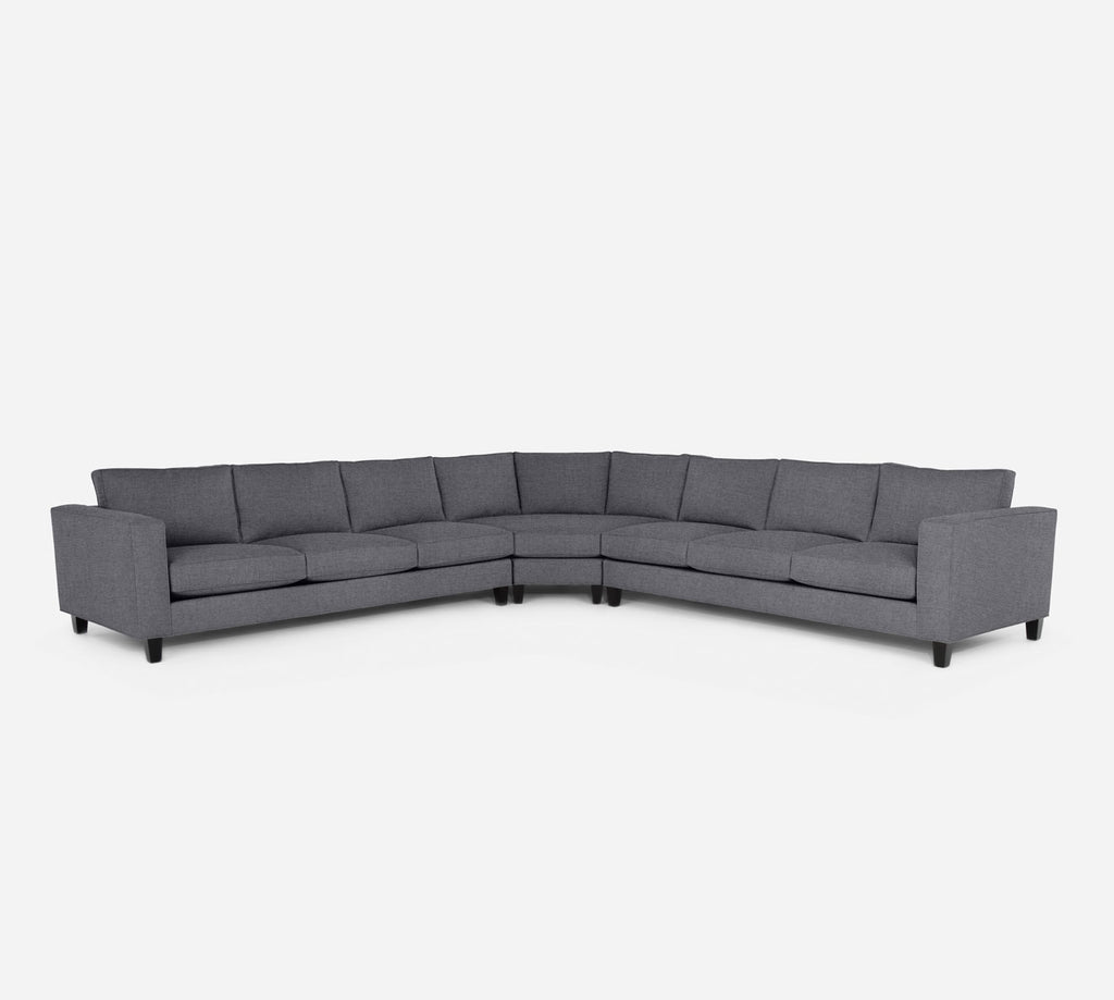 Remy Large Wedge Sectional - Coastal - Steel