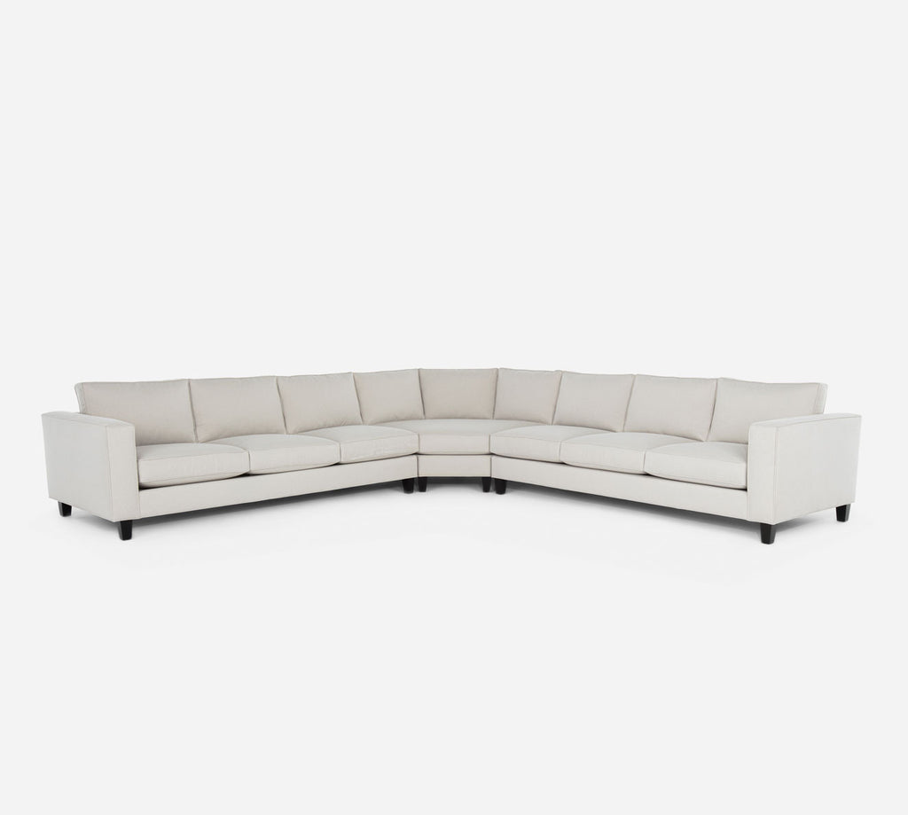 Remy Large Wedge Sectional - Dawson - Oatmeal