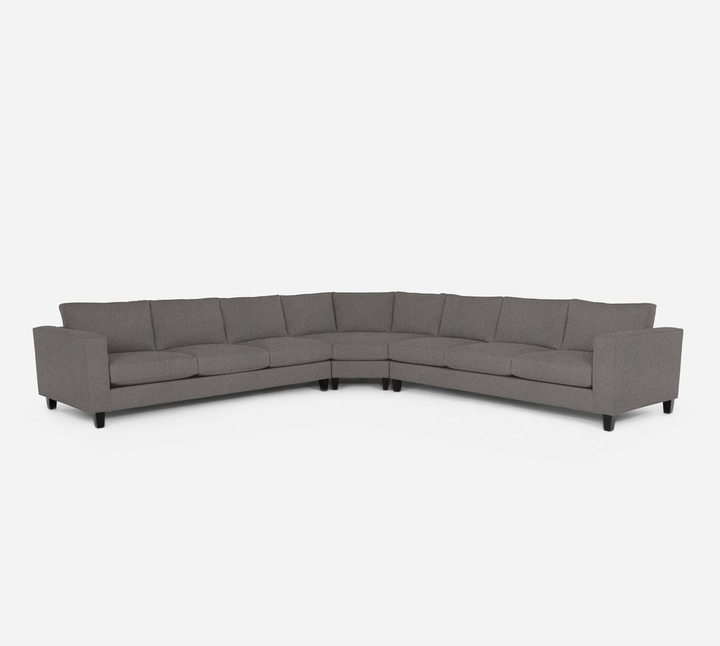 Remy Large Wedge Sectional - Dawson - Platinum