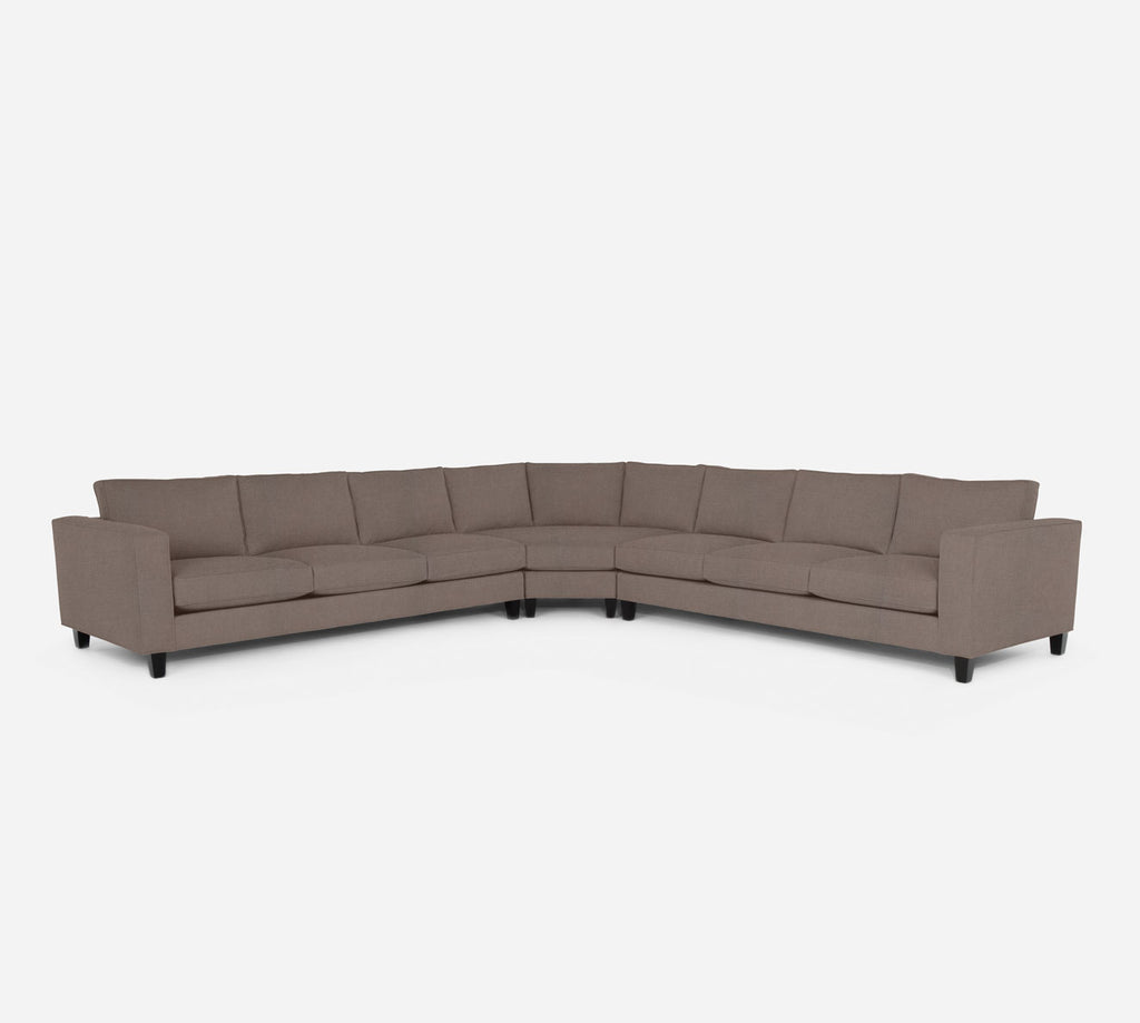 Remy Large Wedge Sectional - Heritage - Pebble