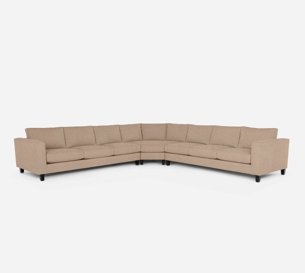 Remy Large Wedge Sectional - Kenley - Ecru