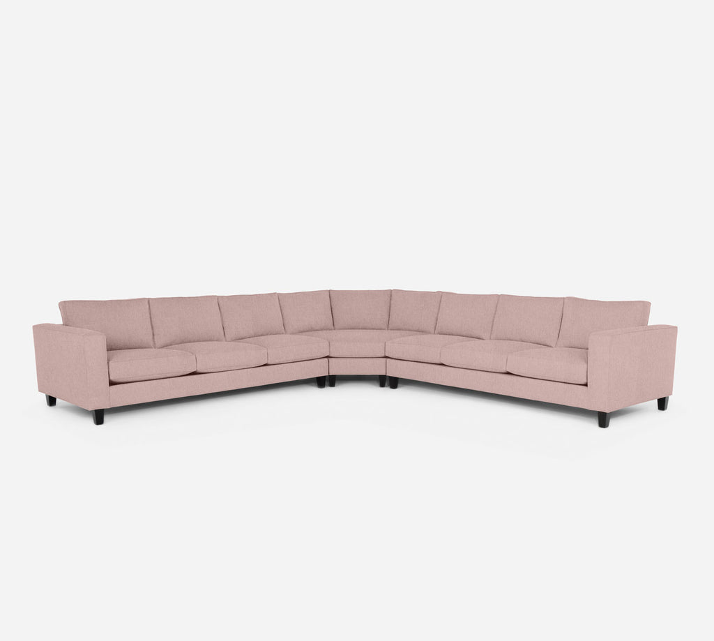 Remy Large Wedge Sectional - Kenley - Quartz