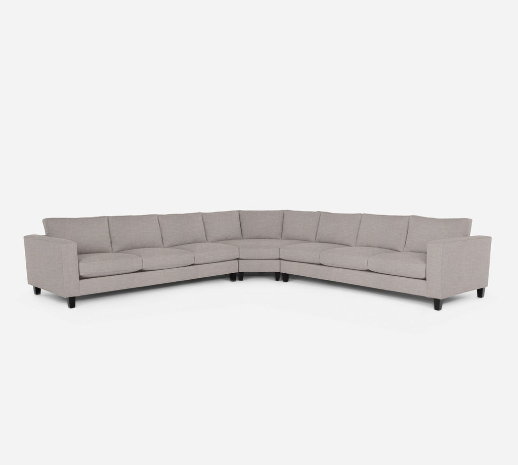 Remy Large Wedge Sectional - Key Largo - Almond