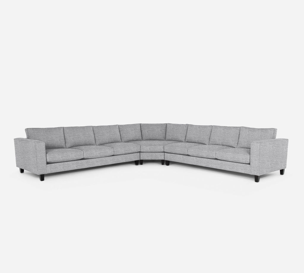 Remy Large Wedge Sectional - Stardust - Domino