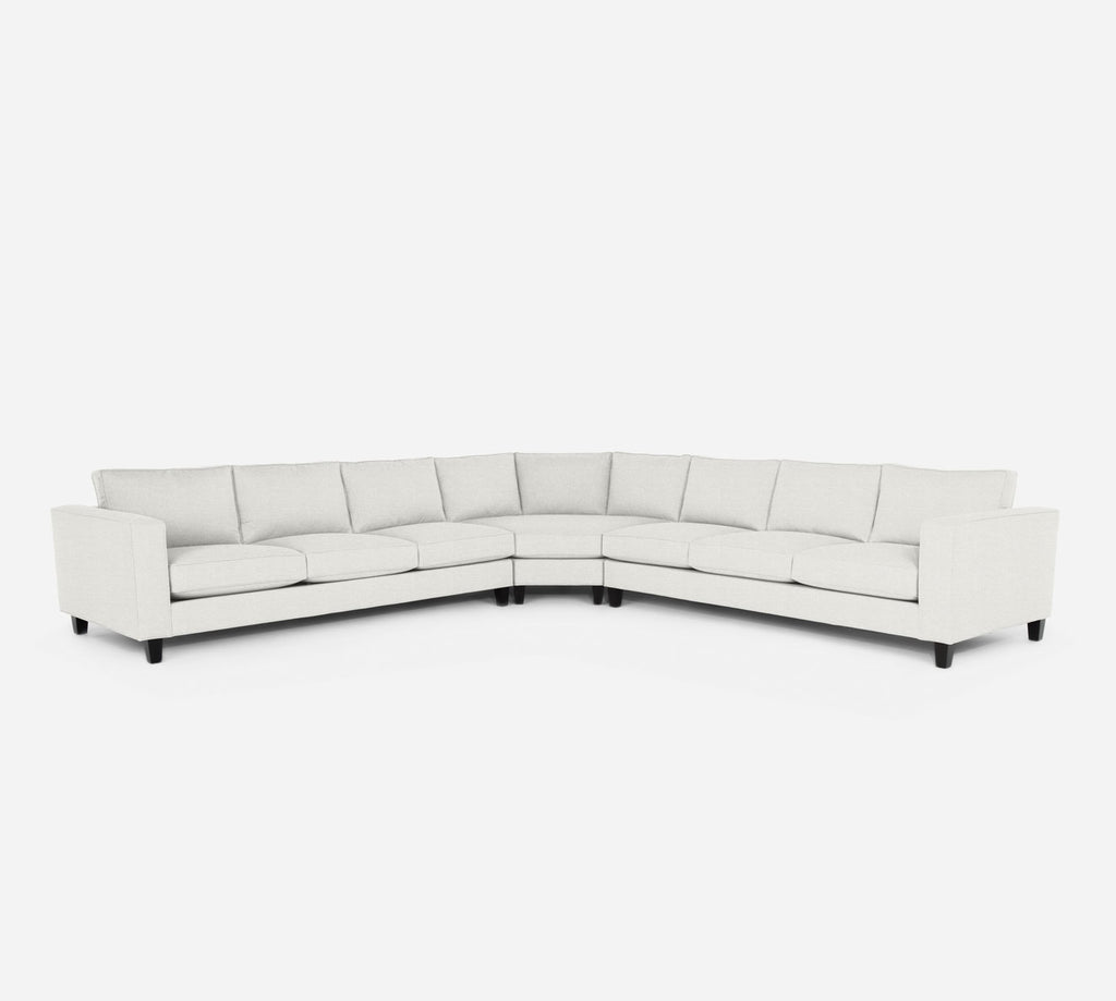 Remy Large Wedge Sectional - Stardust - Ivory