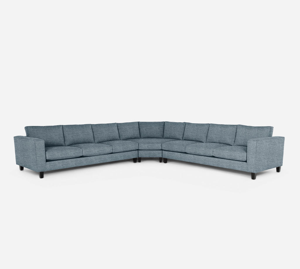 Remy Large Wedge Sectional - Stardust - Lapis