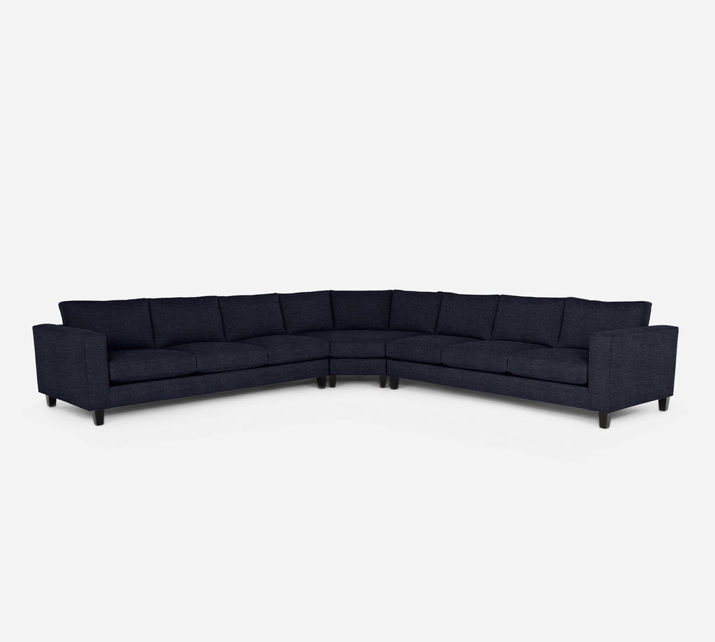 Remy Large Wedge Sectional - Stardust - Midnight
