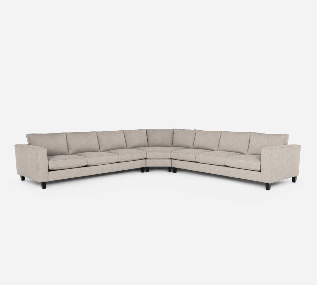 Remy Large Wedge Sectional - Stardust - Oatmeal