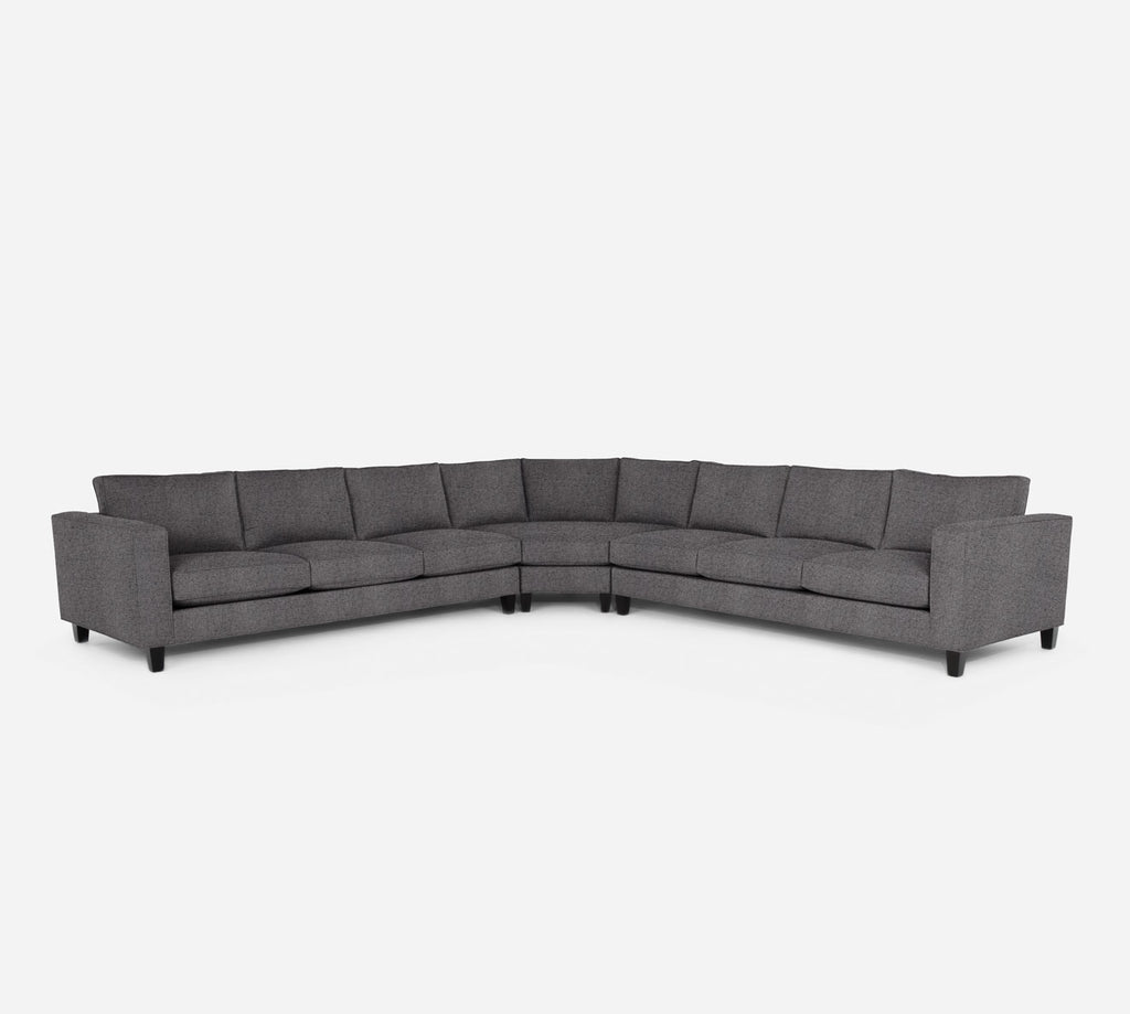 Remy Large Wedge Sectional - Theron - Concrete