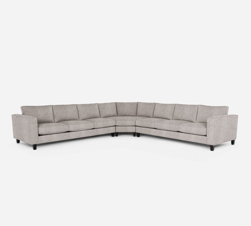 Remy Large Wedge Sectional - Theron - Oyster