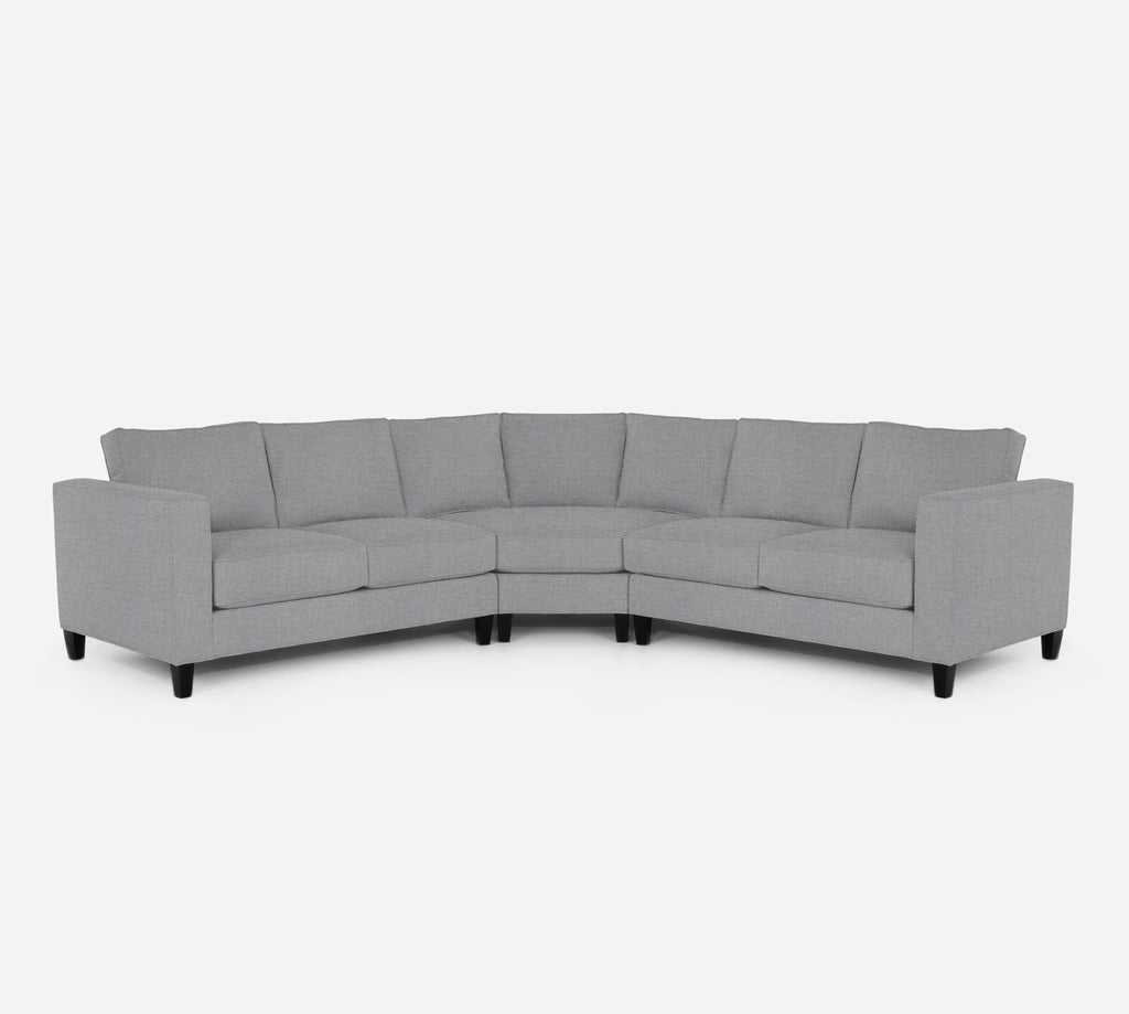 Remy Wedge Sectional - Coastal - Ash