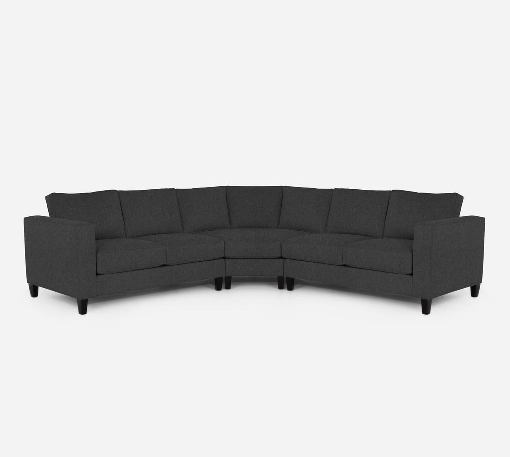 Remy Wedge Sectional - Dawson - Gunmetal