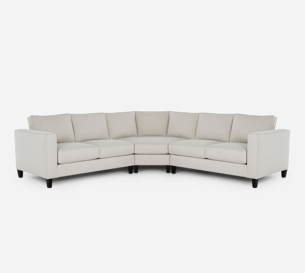 Remy Wedge Sectional - Dawson - Oatmeal