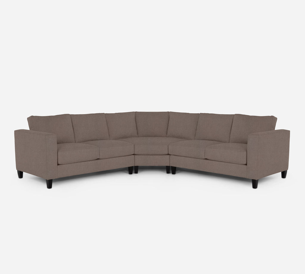 Remy Wedge Sectional - Heritage - Pebble
