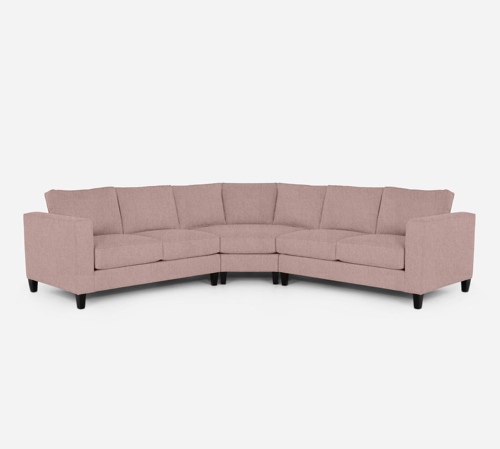 Remy Wedge Sectional - Kenley - Quartz