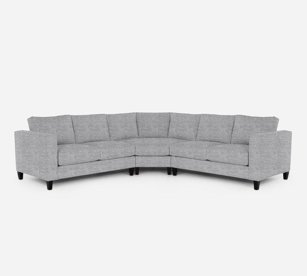 Remy Wedge Sectional - Stardust - Domino