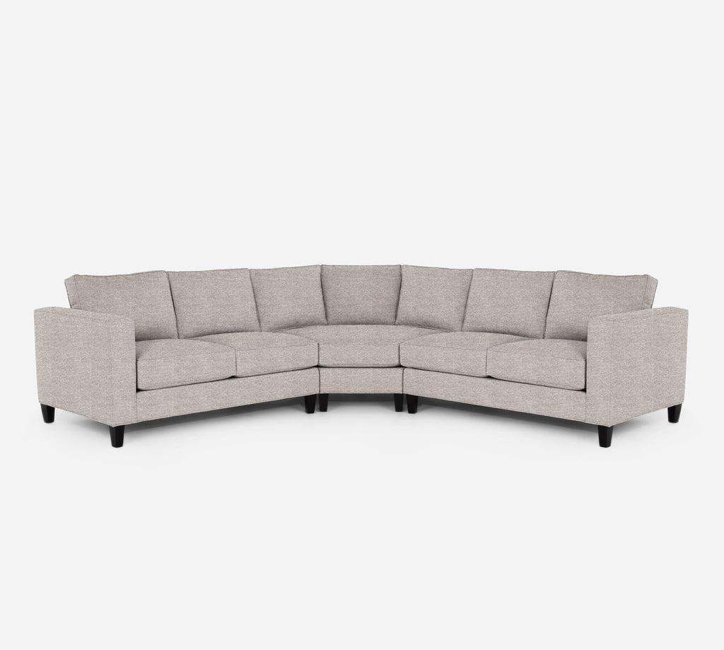 Remy Wedge Sectional - Stardust - Oatmeal