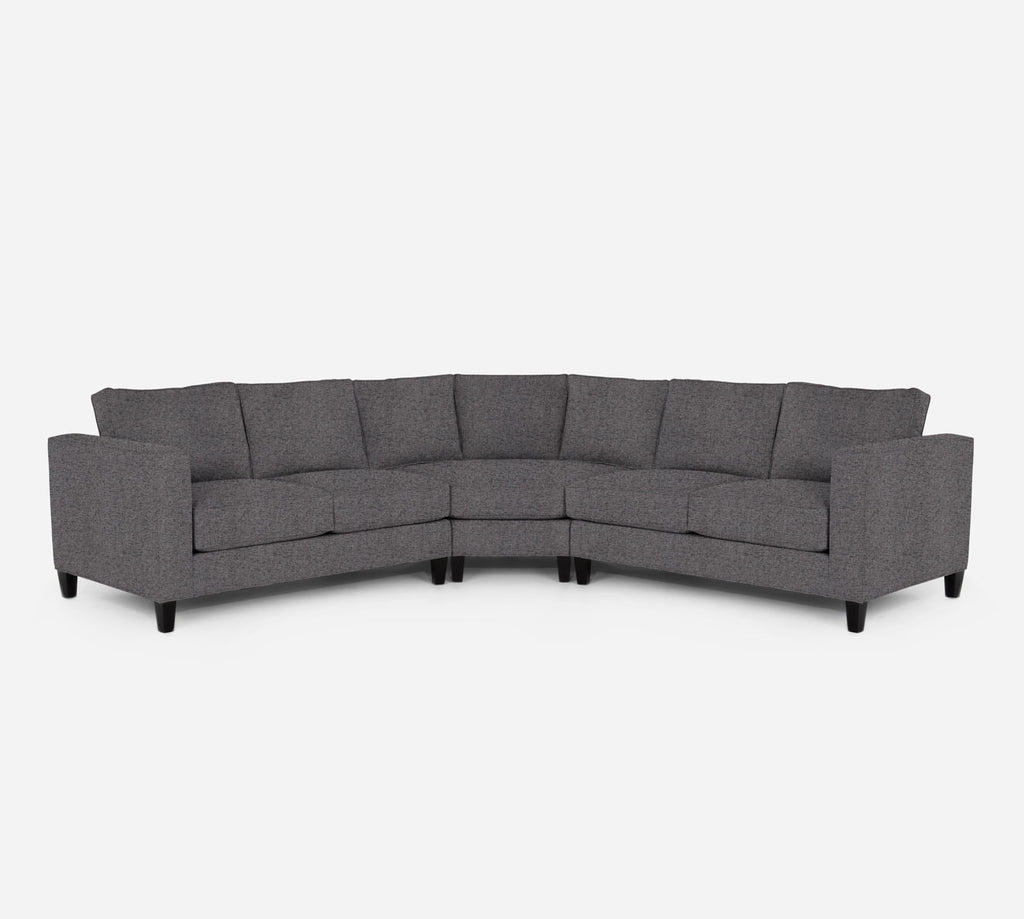 Remy Wedge Sectional - Theron - Concrete