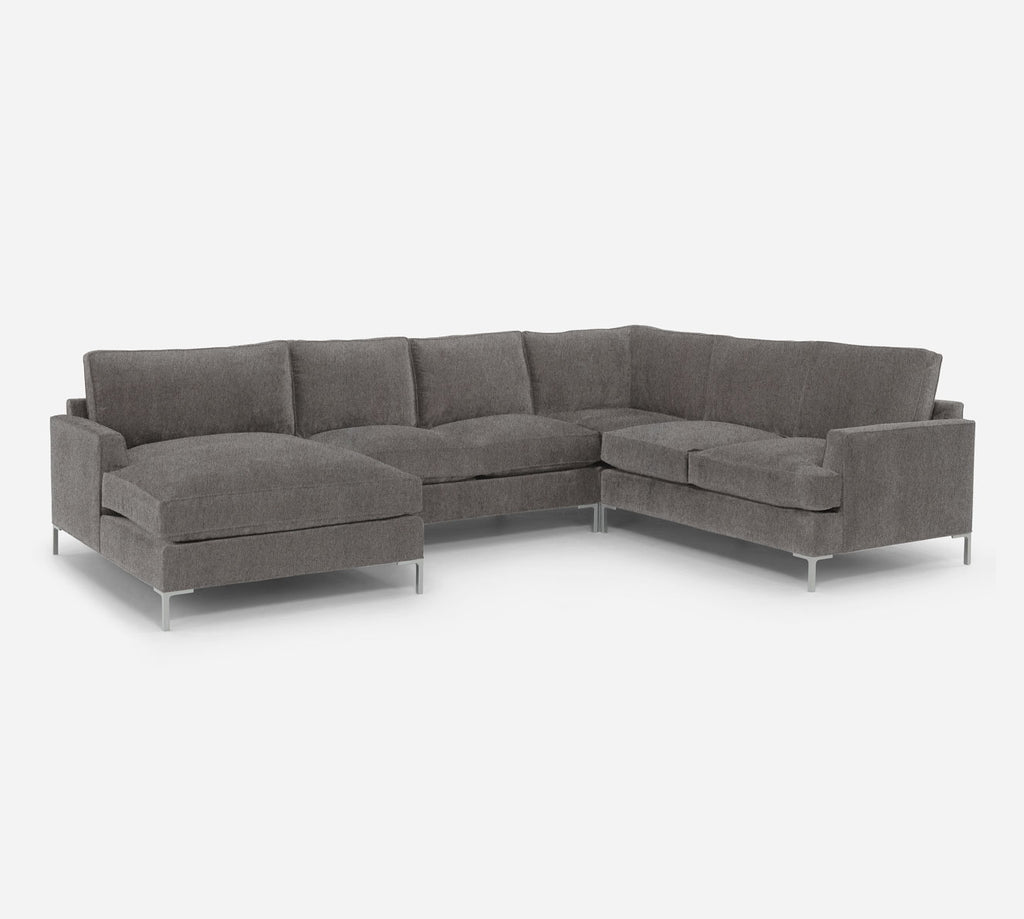 Soho LAF Chaise Corner Sectional - Dawson - Platinum