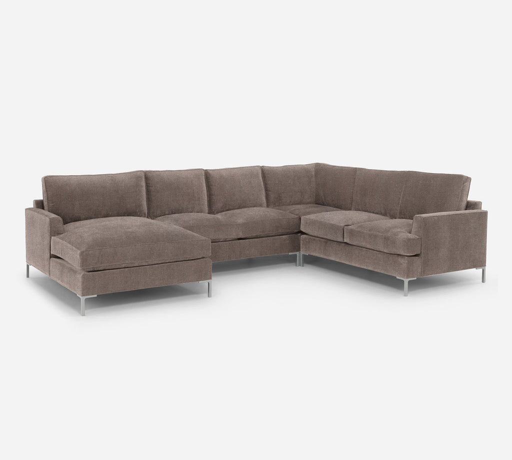 Soho LAF Chaise Corner Sectional - Heritage - Pebble