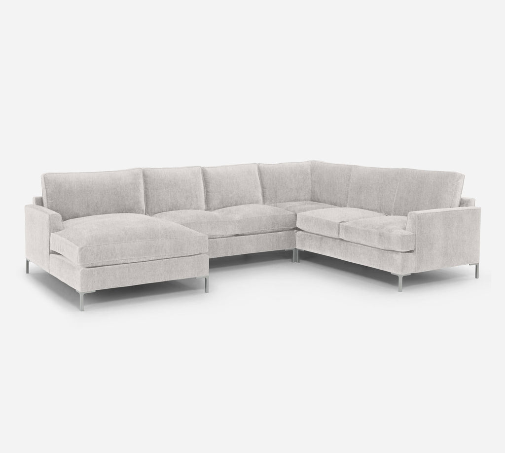 Soho LAF Chaise Corner Sectional - Kenley - Moondust