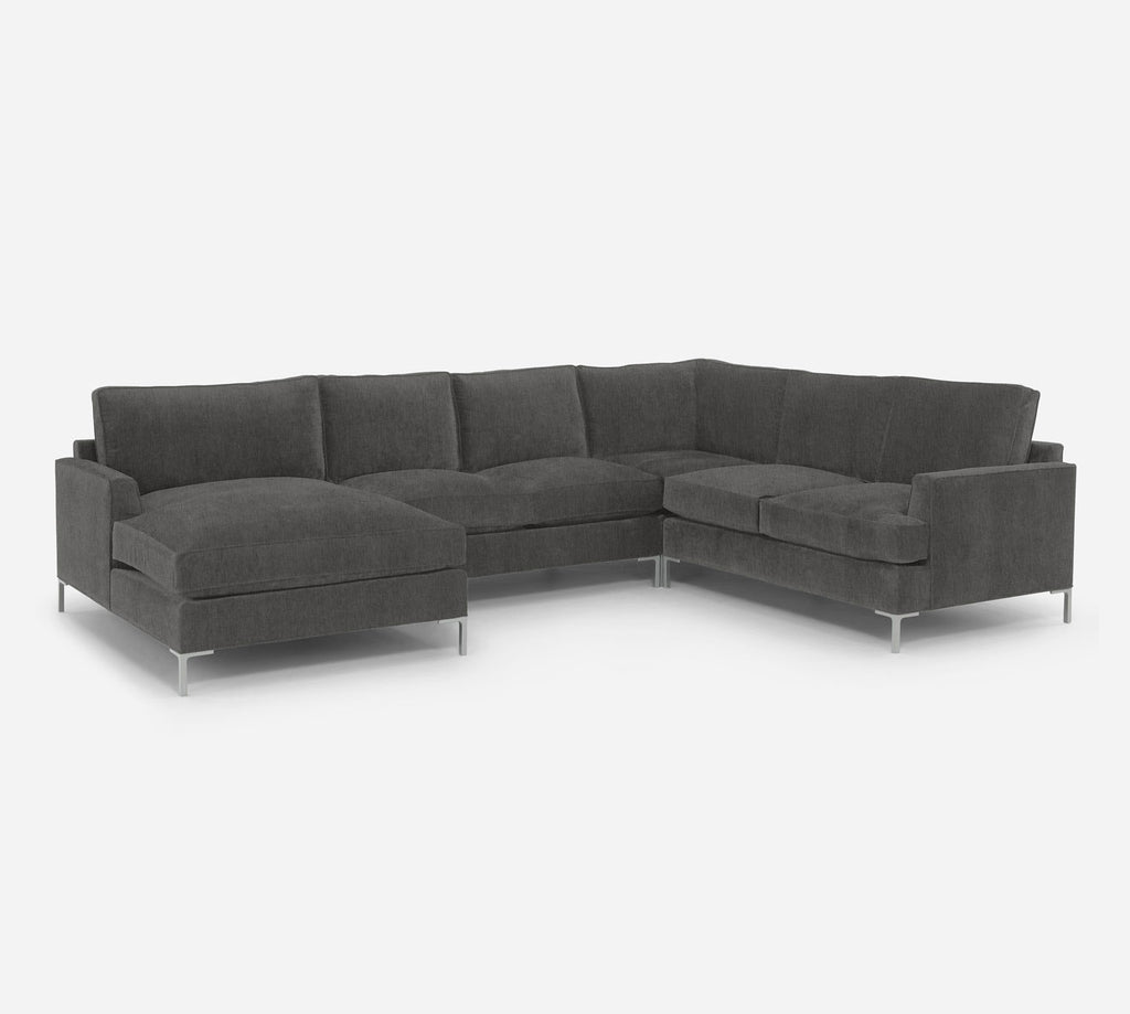 Soho LAF Chaise Corner Sectional - Kenley - Silversage