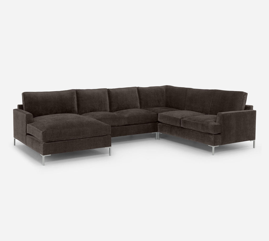 Soho LAF Chaise Corner Sectional - Key Largo - Mocha