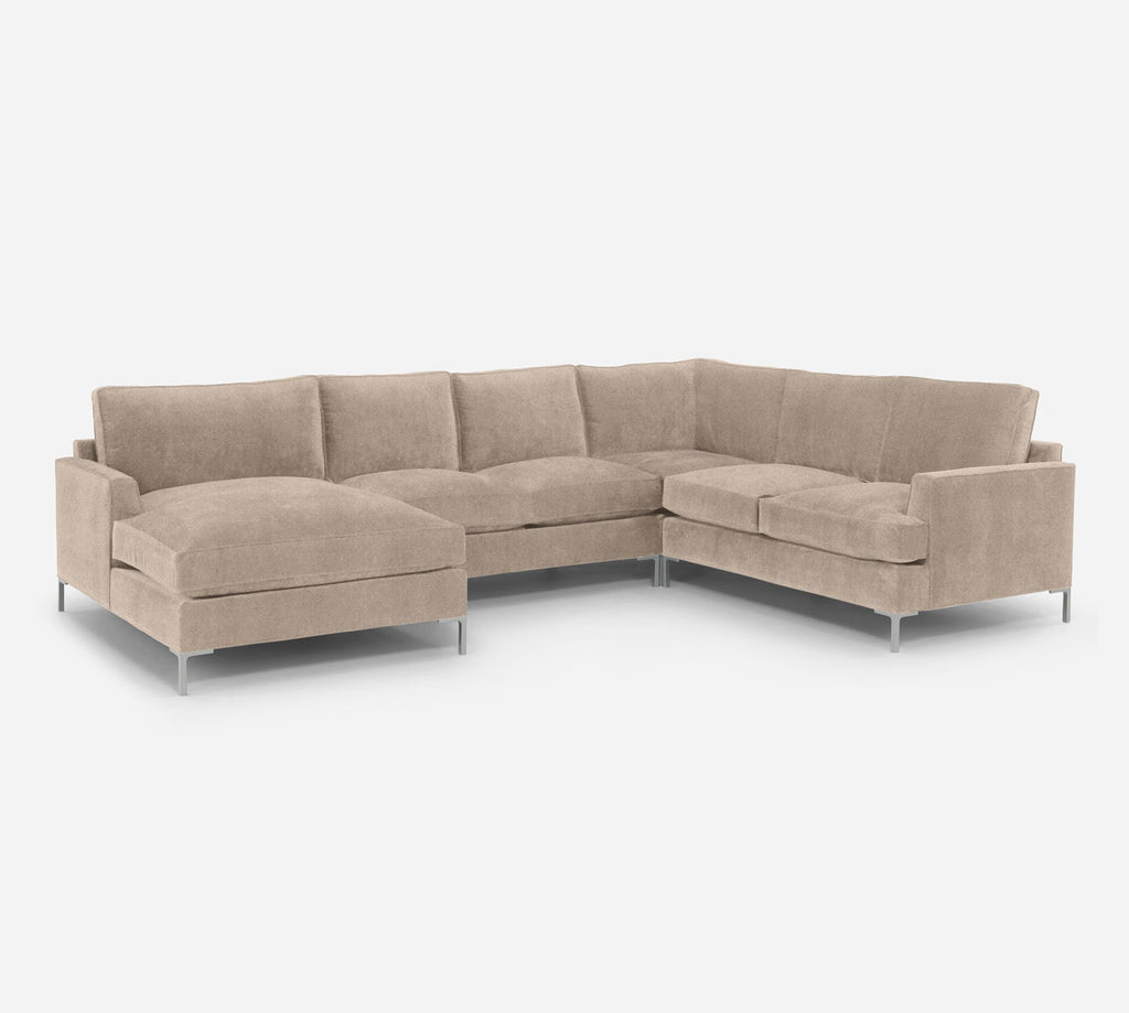 Soho LAF Chaise Corner Sectional - Passion Suede - Camel