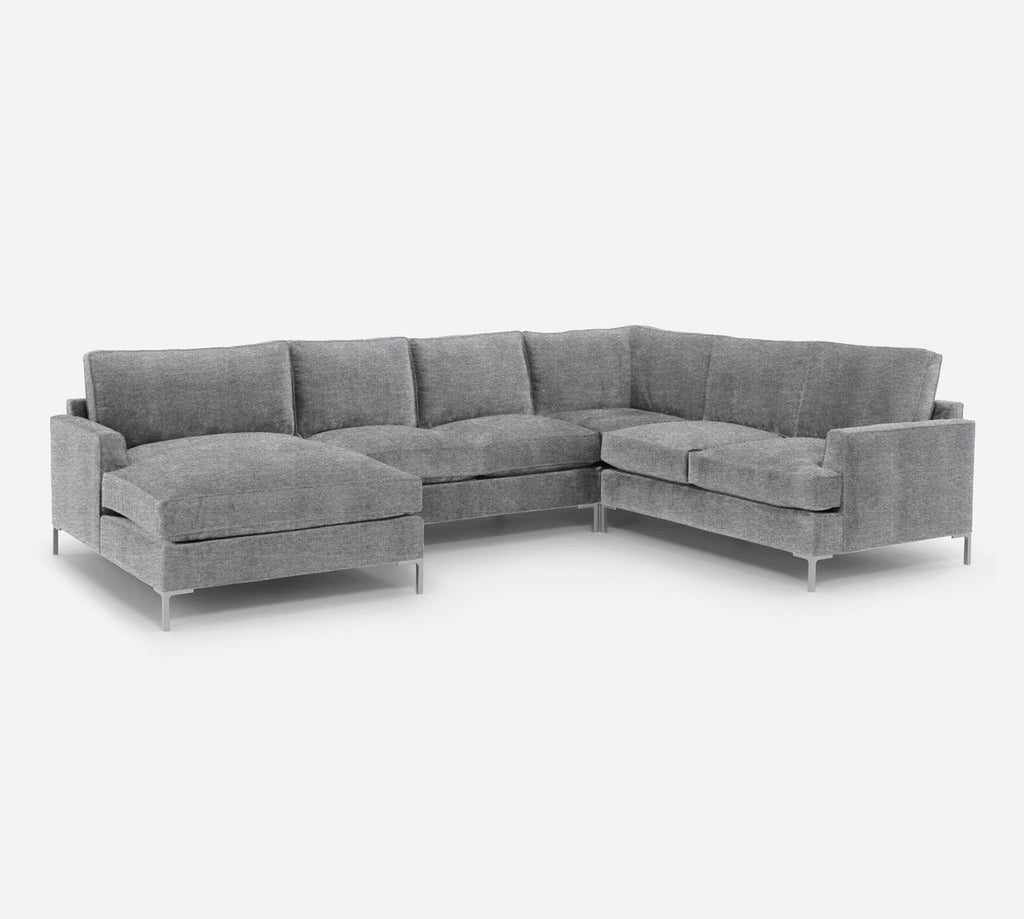Soho LAF Chaise Corner Sectional - Stardust - Domino