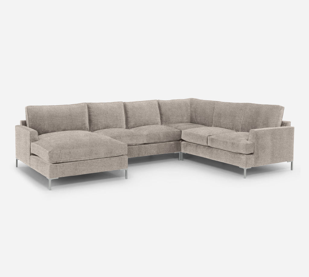 Soho LAF Chaise Corner Sectional - Stardust - Oatmeal