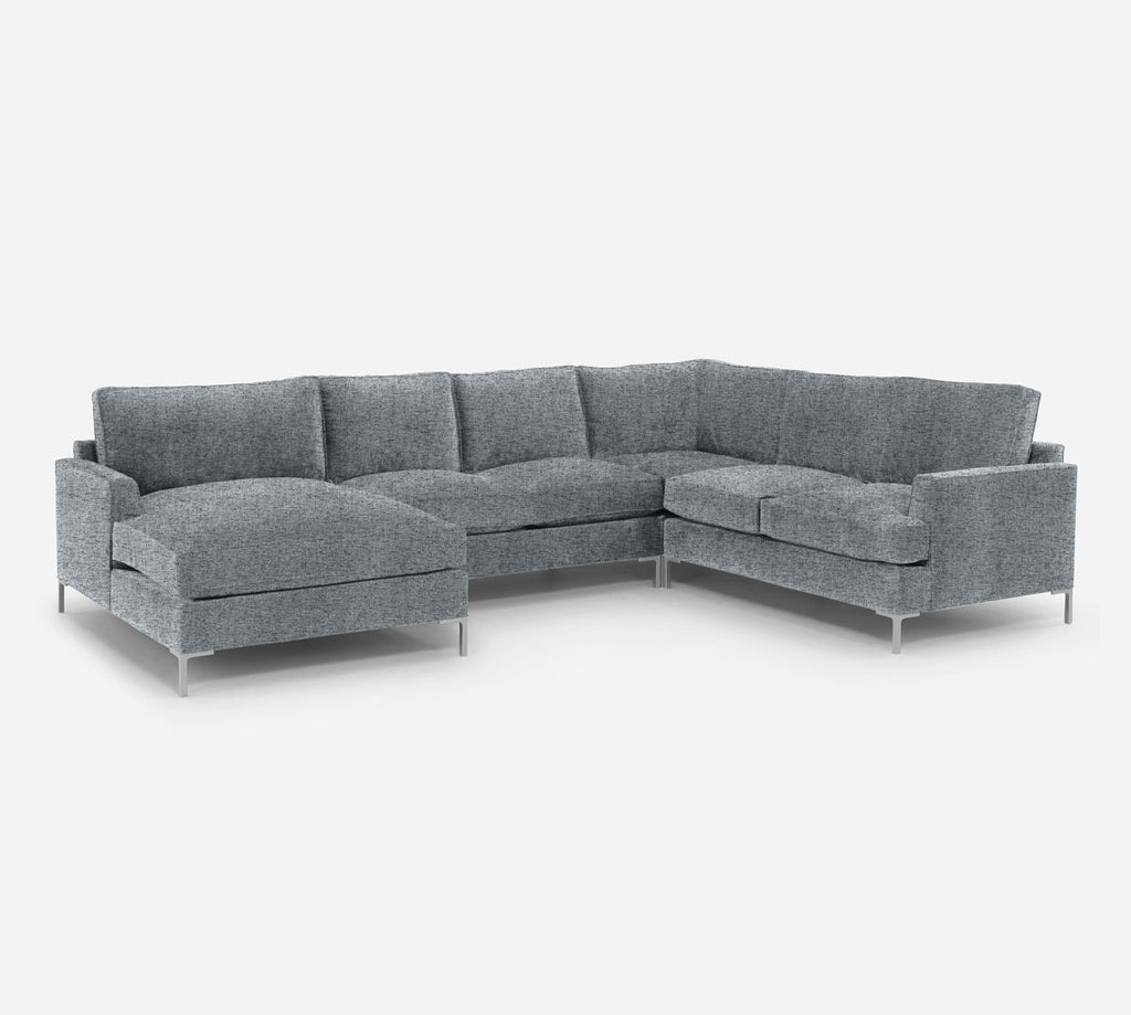 Soho LAF Chaise Corner Sectional - Theron - Haze