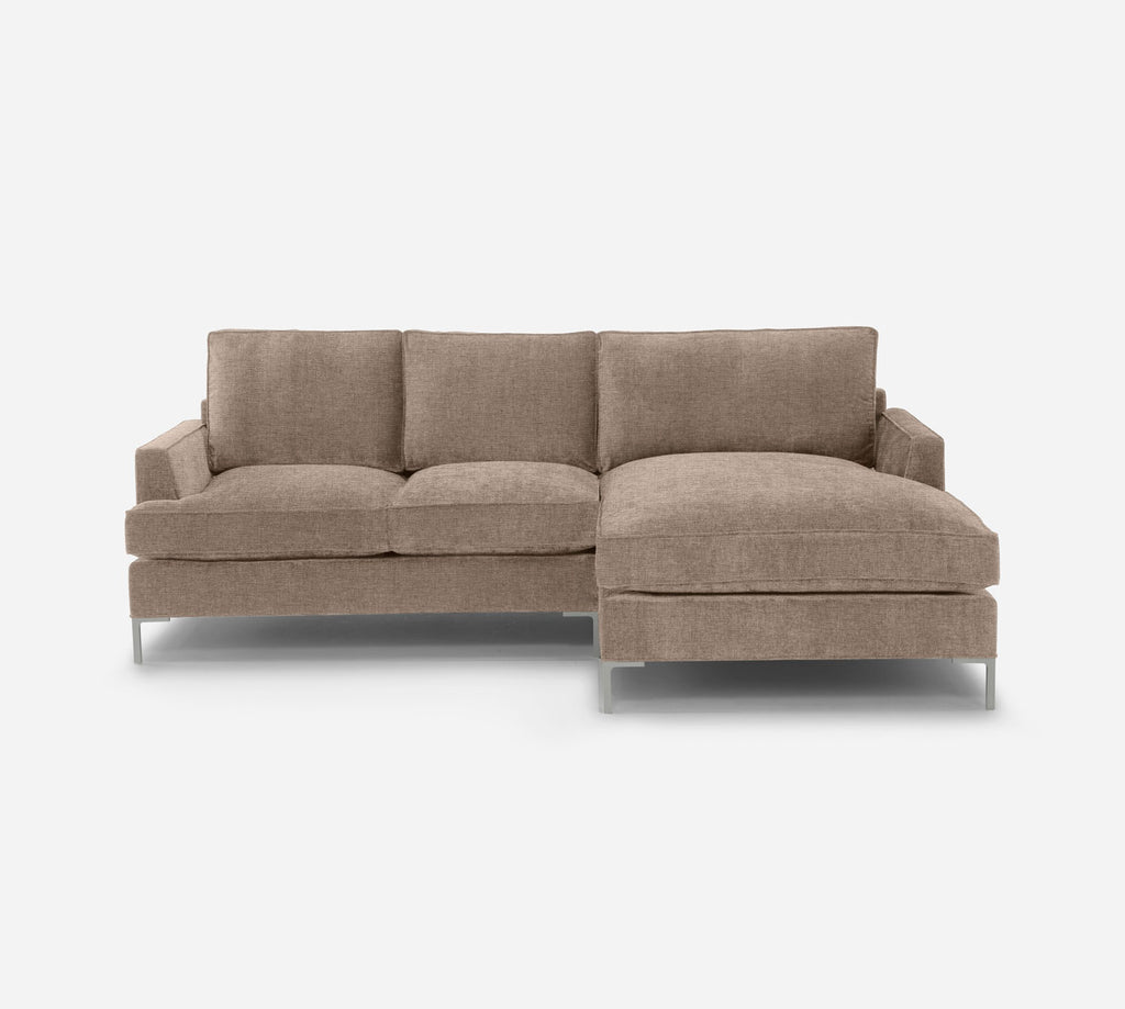 Soho LAF Sectional Apt Sofa w/ Chaise - Coastal - Cashew