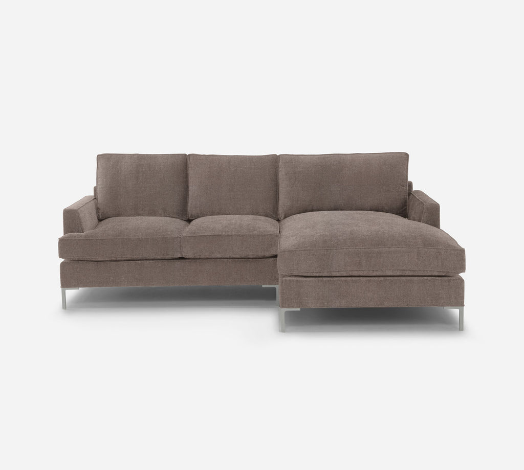 Soho LAF Sectional Apt Sofa w/ Chaise - Heritage - Pebble
