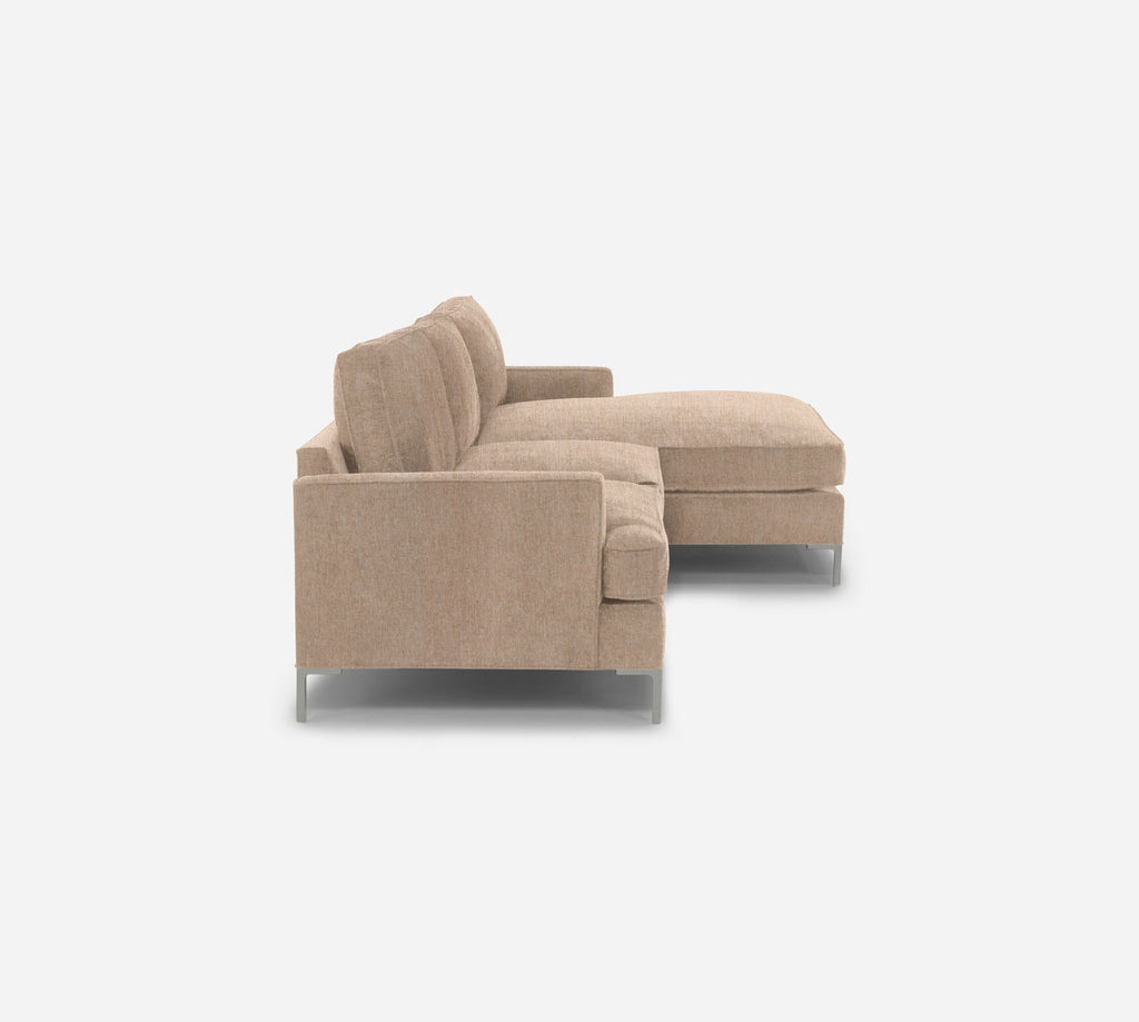 Soho LAF Sectional Apt Sofa w/ Chaise - Kenley - Ecru