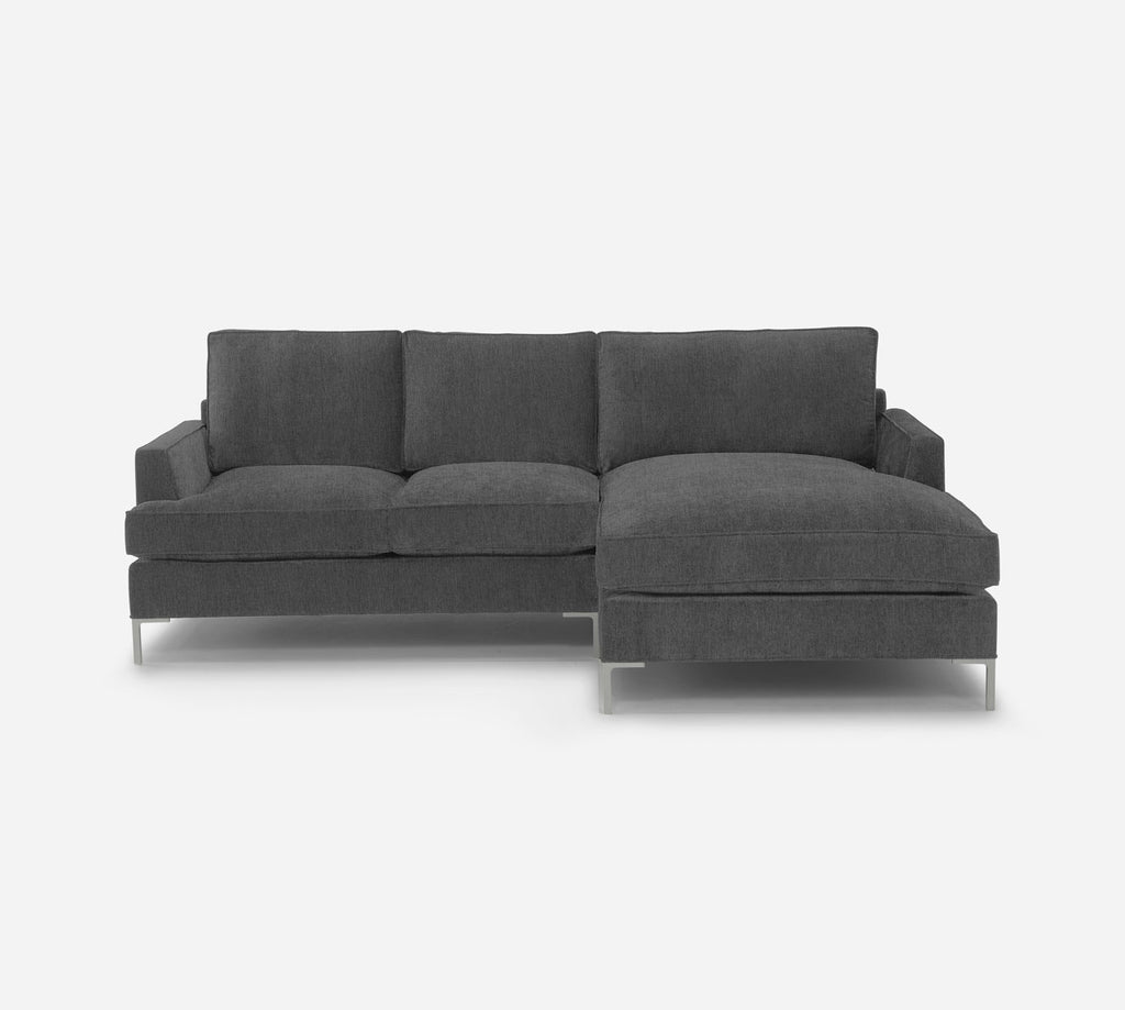 Soho LAF Sectional Apt Sofa w/ Chaise - Kenley - Silversage
